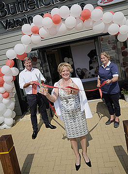Deputy Lord Mayor of Rushcliffe opening Buttercross new East Bridgford branch